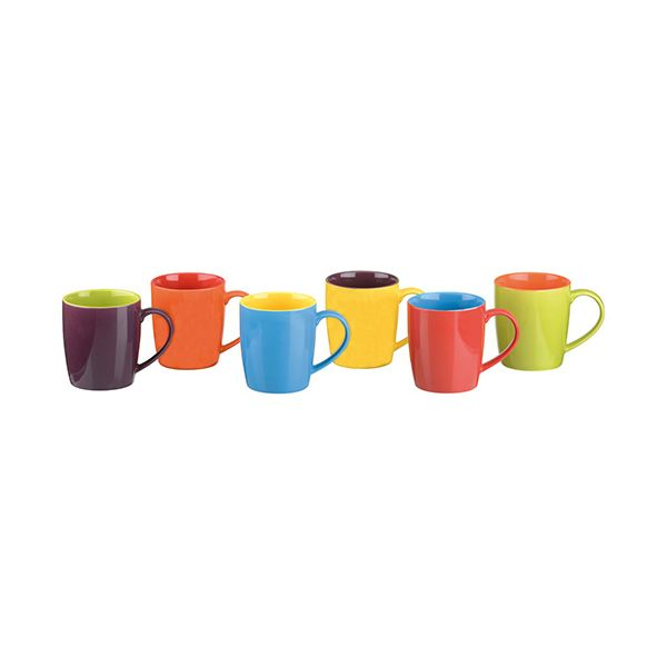 BIA Set of 6 Cappuccino Mugs Assorted Colours
