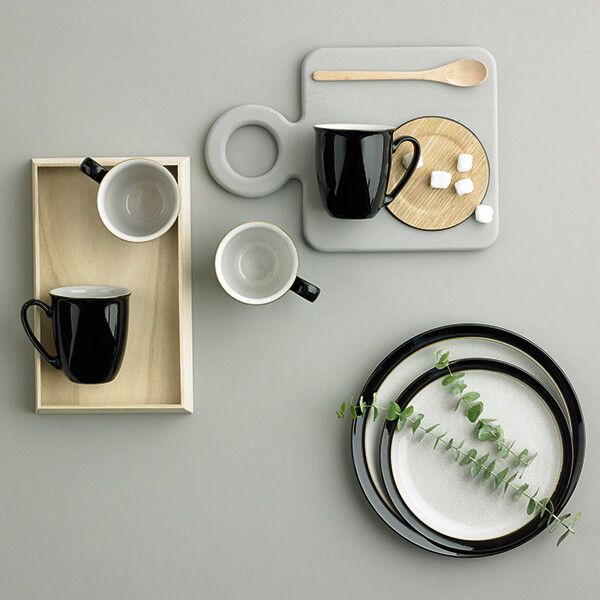 Denby Elements Black Coffee Beaker/Mug