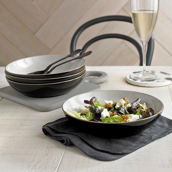 Denby Elements Black Pasta Bowl