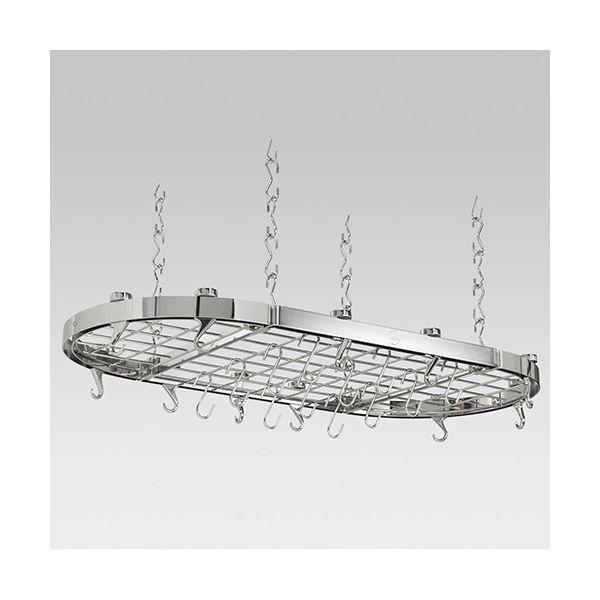Hahn Chrome Metal Oval Ceiling Rack