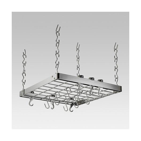 Hahn Chrome Metal Square Ceiling Rack