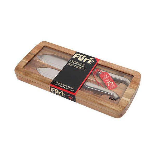Furi Pro East West Santoku 2 Piece Knife Set