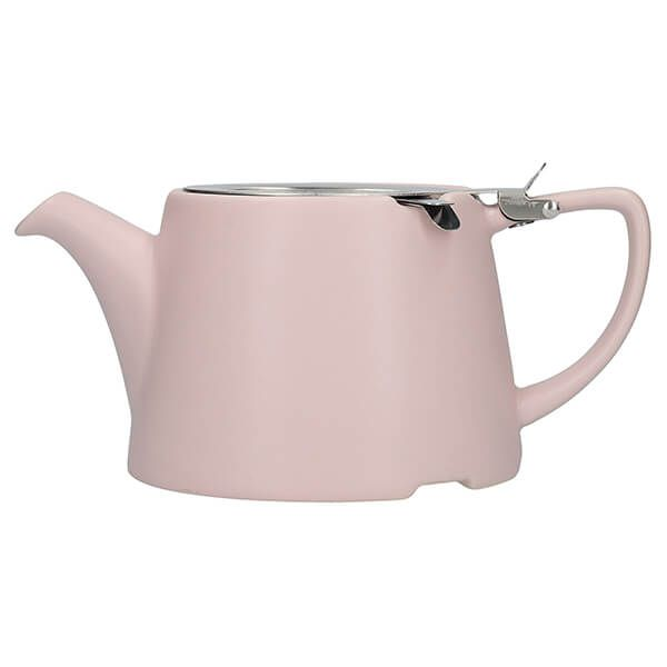 London Pottery Oval Filter 3 Cup Teapot Satin Pink