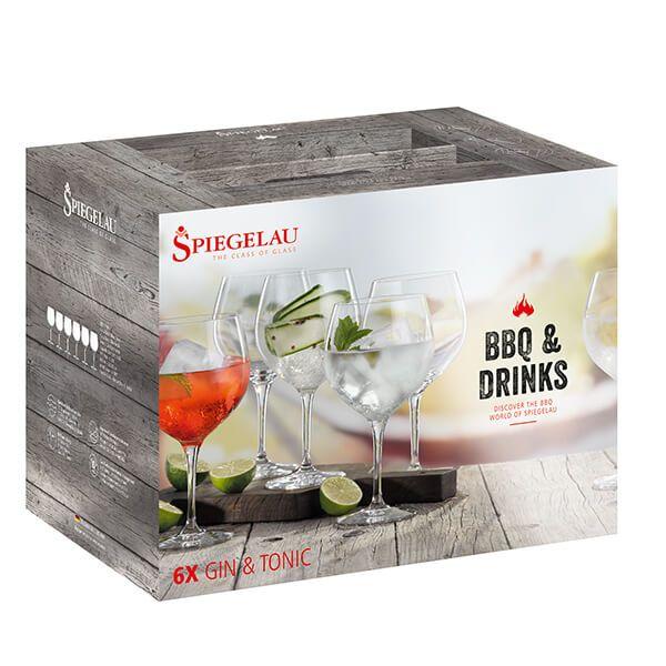 Spiegelau Weber BBQ & Drinks Gin & Tonic 6 Piece Set
