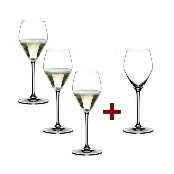 Riedel Extreme Rose / Champagne 4 for 3 Glasses