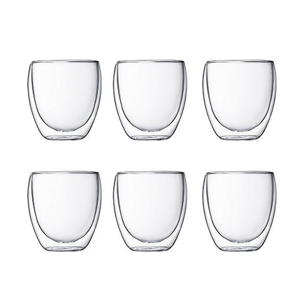 Bodum Pavina Double Wall Glass 0.25L / 8oz Set Of 6
