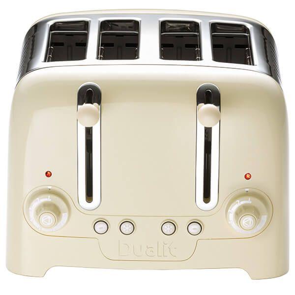 Dualit Lite 4 Slot Toaster Cream Gloss