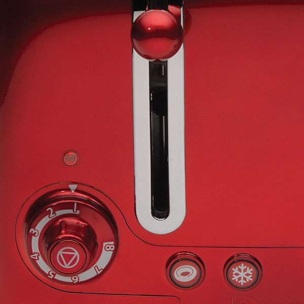 Dualit Lite 4 Slot Toaster Metallic Red with FREE Gift
