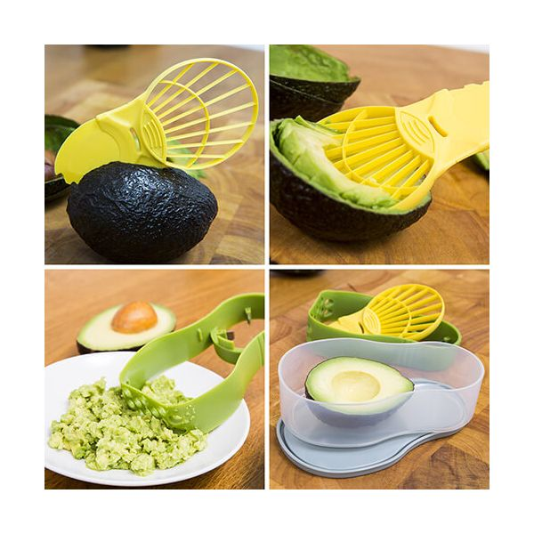 Kitchen Hacks 5 in 1 Avocado Prep 'N' Store Set