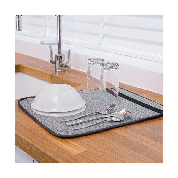 Kitchen Hacks Dish Drying Mat