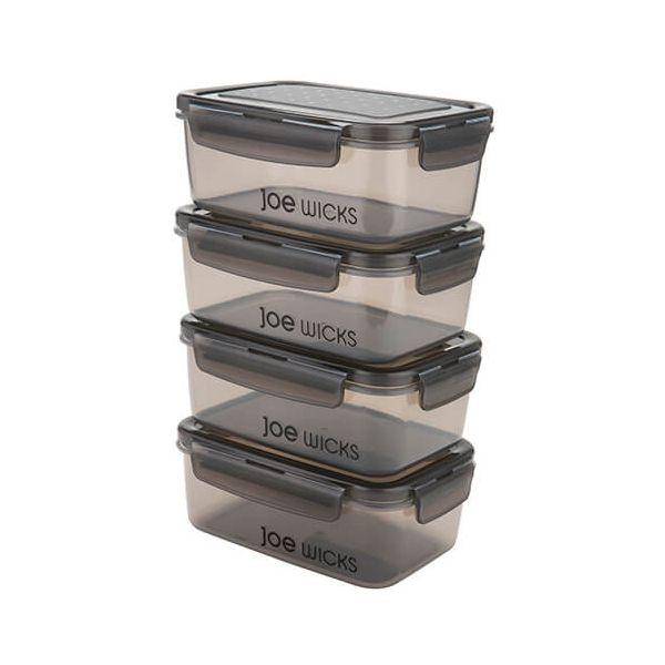 Joe Wicks Container Rectangular 4 Piece Set Grey