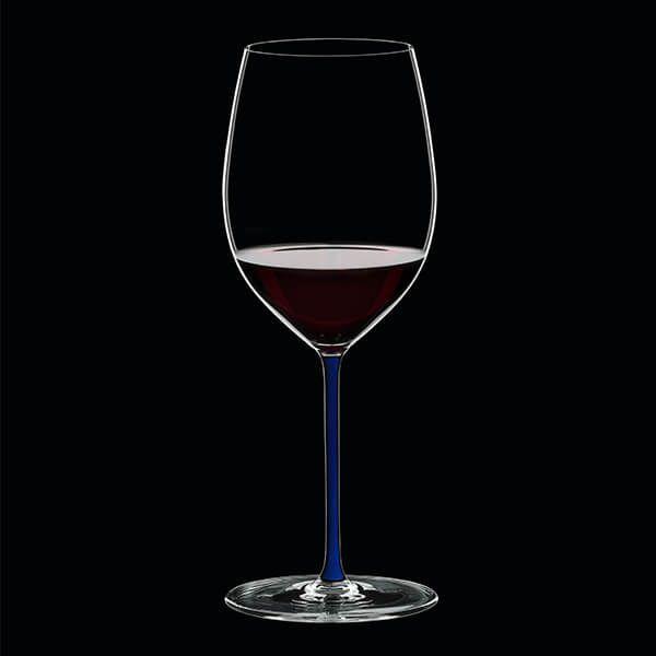 Riedel Hand Made Fatto A Mano Cabernet/Merlot Glass Dark Blue