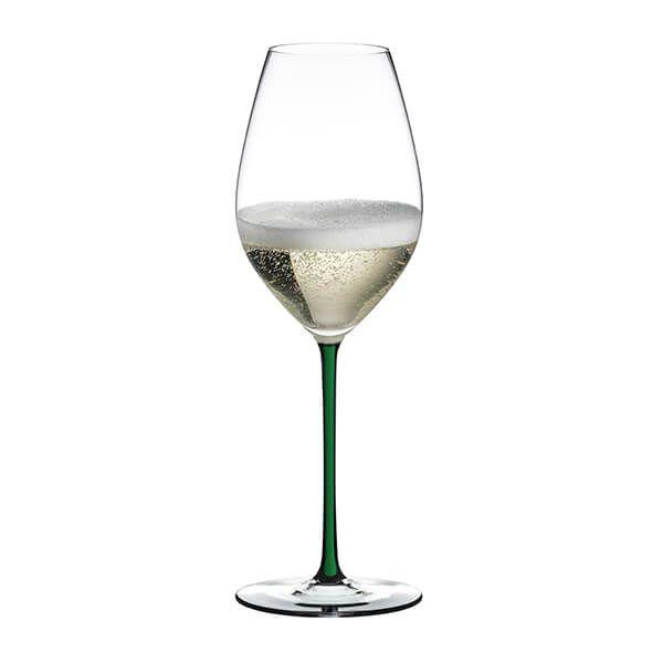 Riedel Hand Made Fatto A Mano Champagne Wine Glass Green