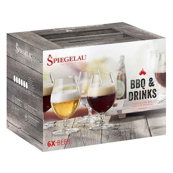 Spiegelau Weber BBQ And Drinks Beer 6 Piece Set