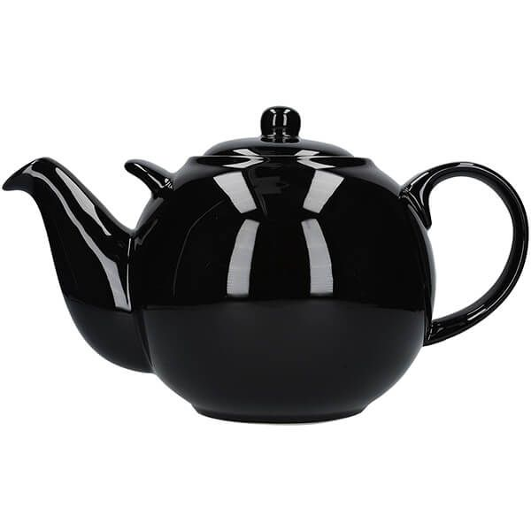 London Pottery Globe 10 Cup Teapot Gloss Black