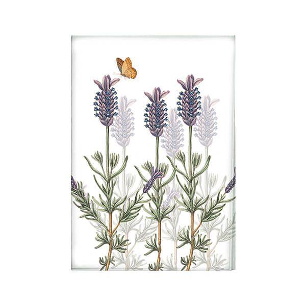 Royal Botanic Gardens Kew Lavender Tea Towel White