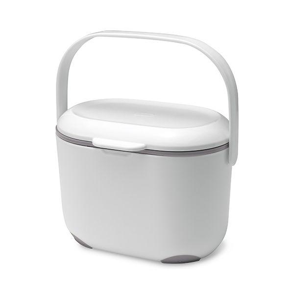 Addis Compost Caddy White / Metallic Grey
