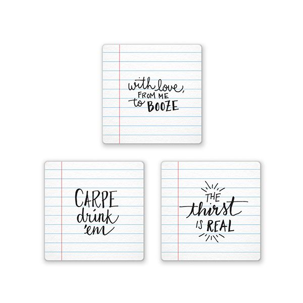 Fred Noted Drinks Coasters