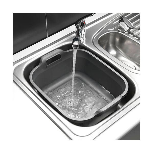 Addis 10 Litre Twin Handled Washing Up Bowl Metallic