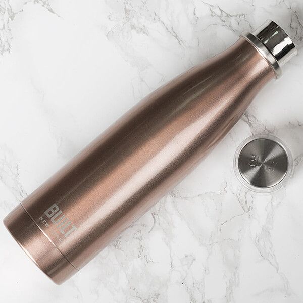 Built 483ml Double Walled Stainless Steel Water Bottle Rose Gold