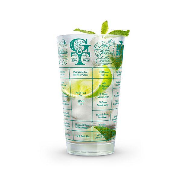 Fred 'Good Measure' Gin Recipe Glass