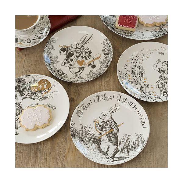 Alice In Wonderland Set of 4 Side Plates