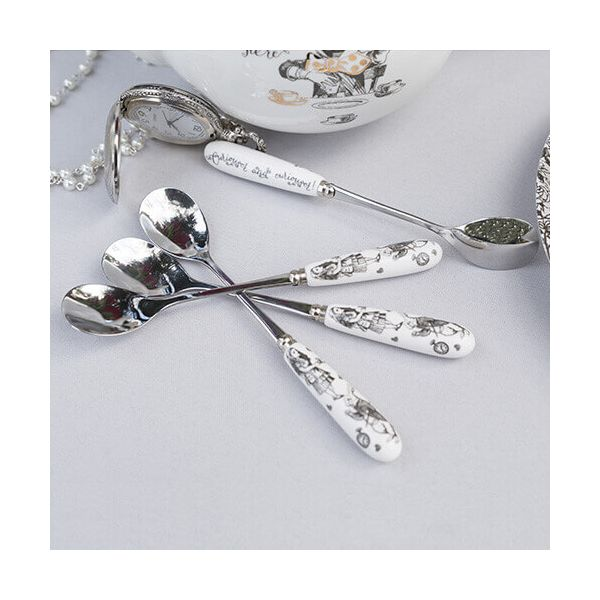 Alice In Wonderland Set 4 Teaspoons