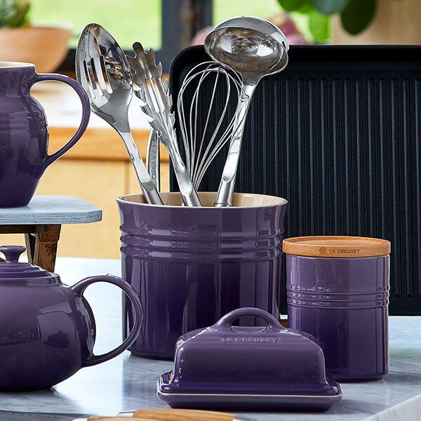 Le Creuset Ultra Violet Large Utensil Jar 3 for 2