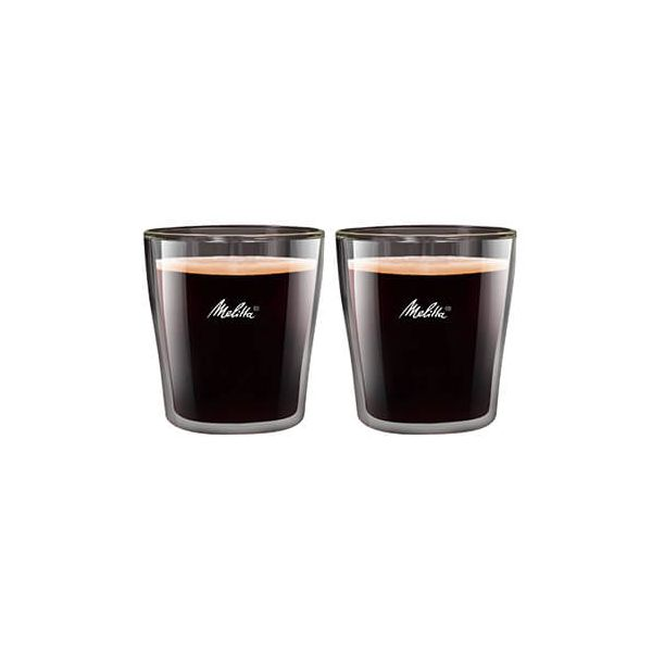 Melitta 80ml Double Wall Espresso Glass Set Of 2