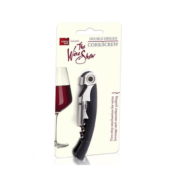 The Wine Show Double Hinged Waiter's Corkscrew Black