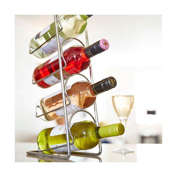 Hahn Pisa Chrome Wine Rack - 4 Bottle