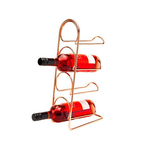 Hahn Pisa Copper Wine Rack - 4 Bottle