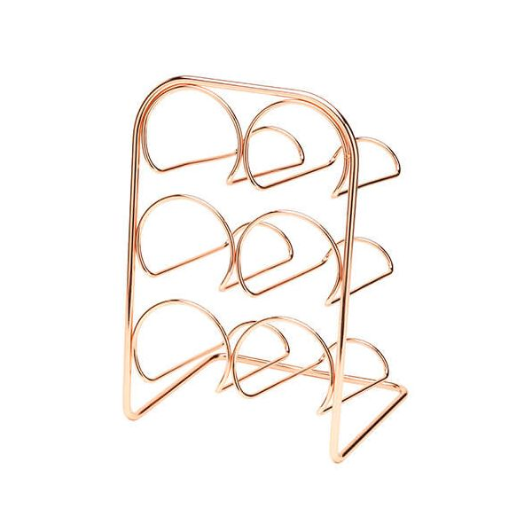Hahn Pisa Copper Wine Rack - 6 Bottle