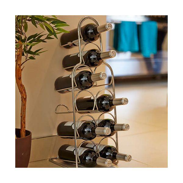 Hahn Pisa Chrome Wine Rack - 10 Bottle