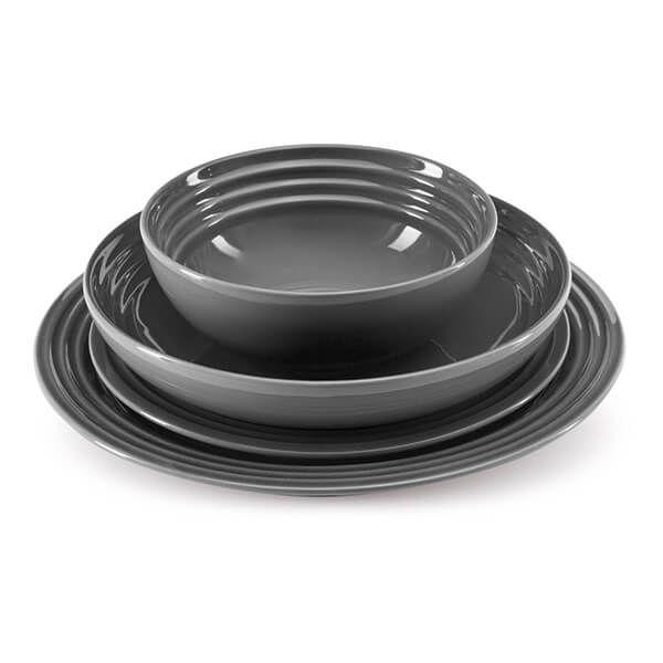 Le Creuset Flint Stoneware 22cm Pasta Bowl 4 for 3