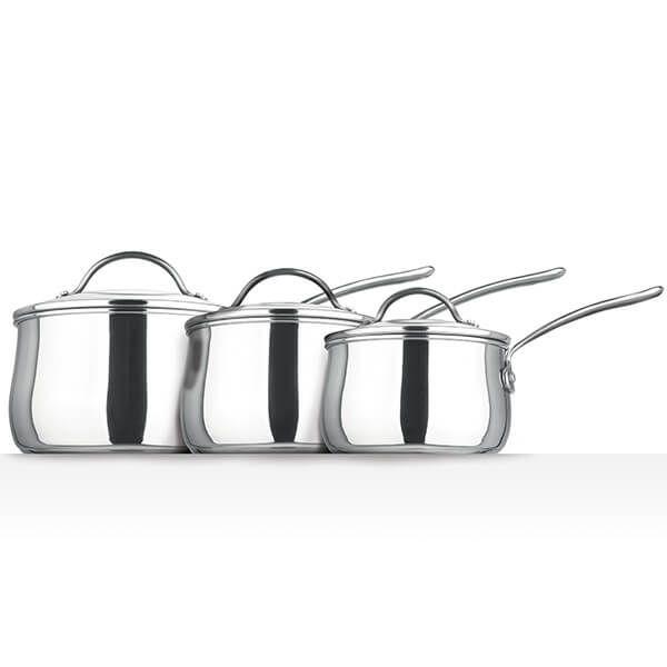Prestige Stainless Steel 3 Piece Saucepan Set