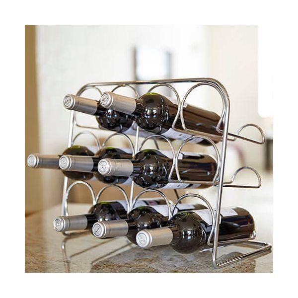 Hahn Pisa Chrome Wine Rack - 12 Bottle