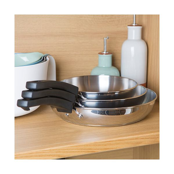 Kitchen Hacks 3 Piece Frying Pan Set