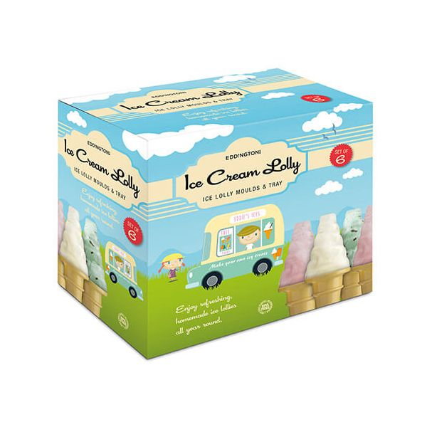 Eddingtons Set Of 6 Ice Cream Cone Lolly Moulds