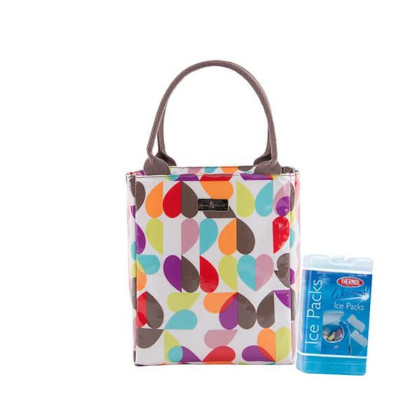 Navigate Beau & Elliot Broken Hearted Insulated Lunch Tote FREE Thermos Set Of Two Ice Packs 200g