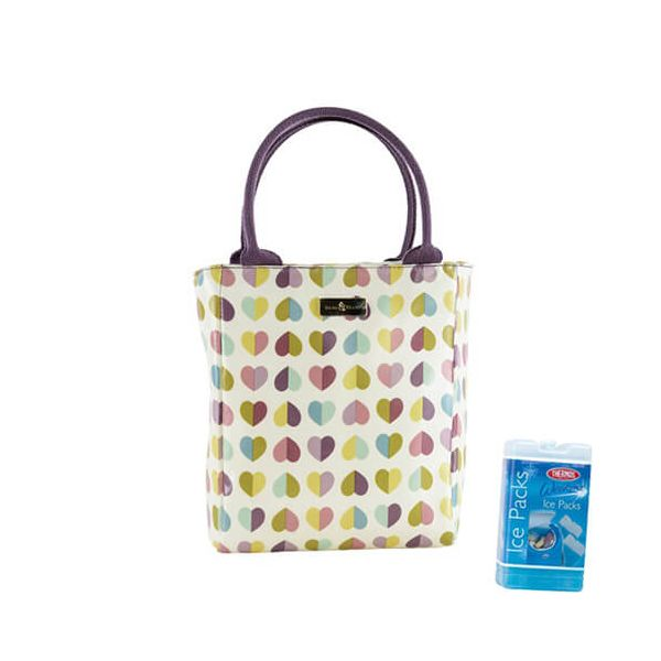 Navigate Beau & Elliot Confetti Vintage Insulated Lunch Tote FREE Thermos Set Of Two Ice Packs 200g