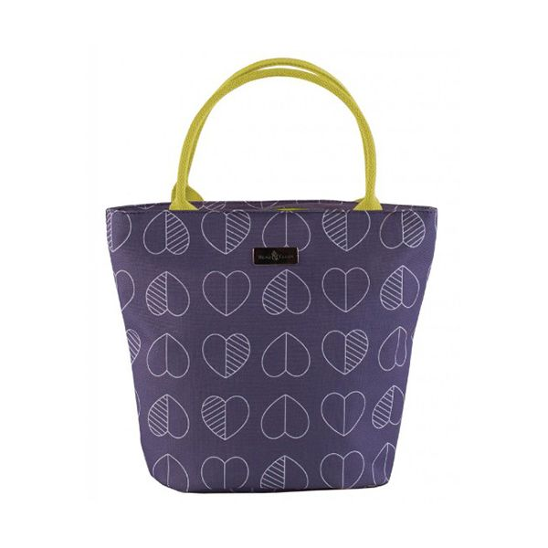 Navigate Beau & Elliot Confetti Outline Midnight Blue Insulated Lunch Tote