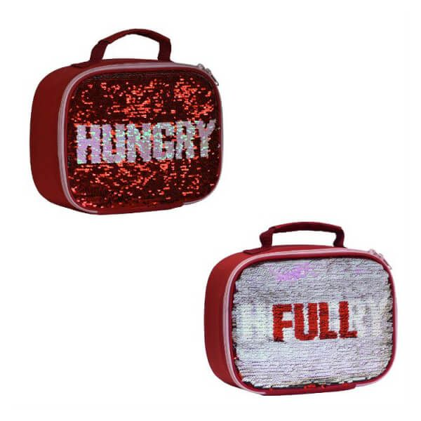 My Little Lunch Sequin Lunch Bag Hungry / Full