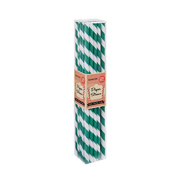 Eddingtons Paper Straws Green 25 Pack