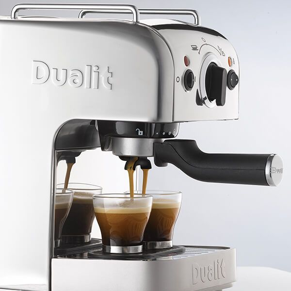 Dualit 3 IN 1 Coffee Machine Polished Stainless Steel