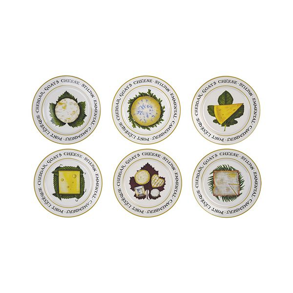 Clare Mackie Cheese Board Set Of 6 Plates