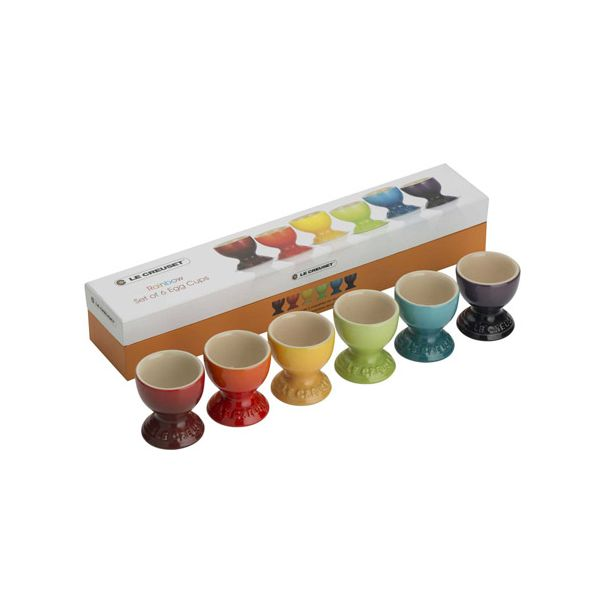 Le Creuset Rainbow Stoneware Set Of 6 Egg Cups