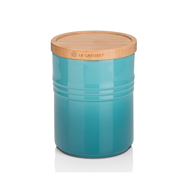 Le Creuset Teal Stoneware Medium Storage Jar 3 for 2