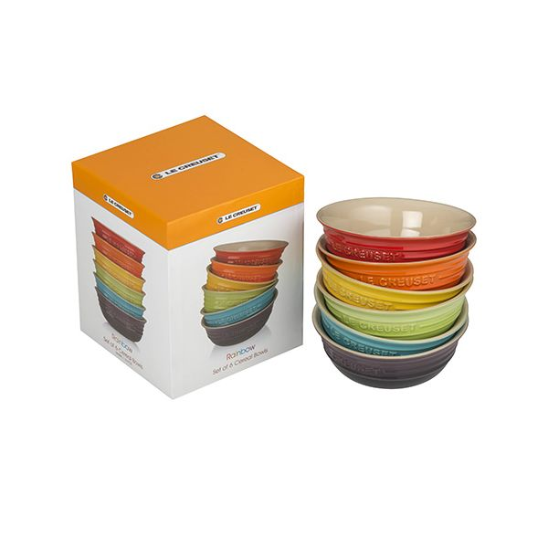 Le Creuset Rainbow Stoneware Set of 6 Cereal Bowls