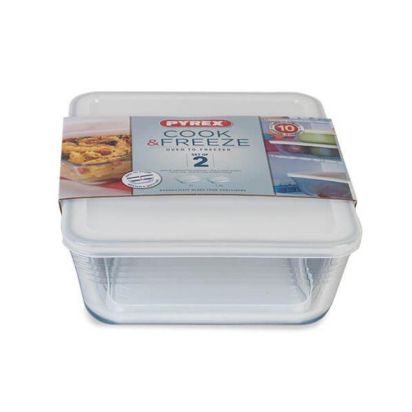 Pyrex Cook & Freeze 2 Piece Rectangular Storage Set
